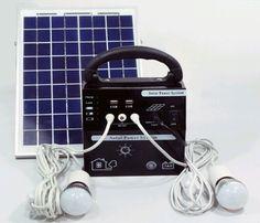 RD-05 Kit de energia solar con 2 lamparas led, cargador de móvil y panel solar de 10 vatios. http://santo-domingo.weebly.com/