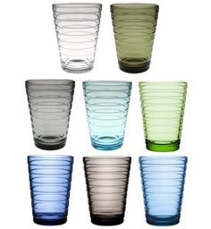 iittala Aino Aalto Large Tumblers Aino Aalto, wife of esteemed architect and glass designer Alvar Aalto, won the 1932 iittala-Karhula design competition in Finland and the gold prize at the Milan Triennale in 1936 for her functionalist. Nordic Design, Scandinavian Design, Modern Design, Alvar Aalto, Design Competitions, Glass Design, Modern Classic, Marimekko, Interior Architecture