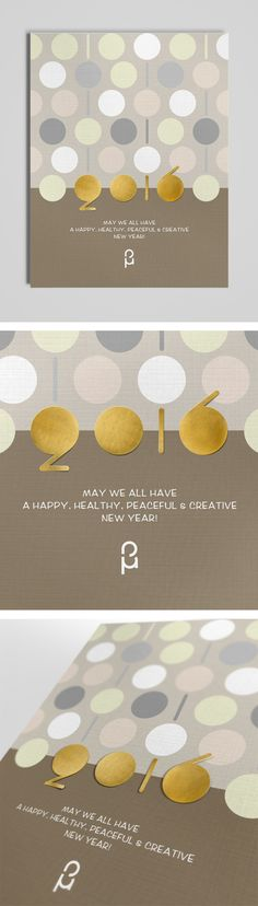 Christmas & New Year Greeting Cards by Vasilis Magoulas / #newyear #xmas #2016 #greeting-card #typography