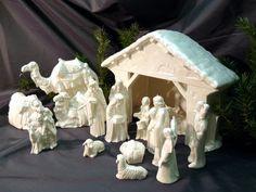 Ceramic Nativity by GrapeVineCeramicsGft on Etsy, $60.00