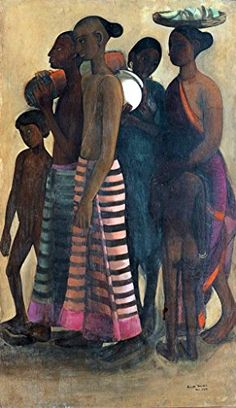South Indian Villagers Going to Market by Amrita Sher-Gil – Famous Indian Art – Handmade Oil Painting on Canvas — Canvas Paintings Wassily Kandinsky, Amrita Sher Gil, India Art, India India, Edvard Munch, Indian Artist, Post Impressionism, Art Prints For Sale, Art Moderne