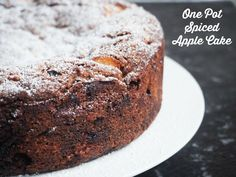 desserts recipes, thanksgiving kids dessert recipes, halloween desserts recipes - One pot spiced apple cake. This is decadently yum. Simple ingredients (swap sultanas for chopped dates), quick to whip up, and yields a big cake. Def a keeper! Bbc Good Food Recipes, Gourmet Recipes, Sweet Recipes, Baking Recipes, Dessert Recipes, Vegetarian Recipes, Indian Cake, Apple Cake Recipes, Apple Cakes