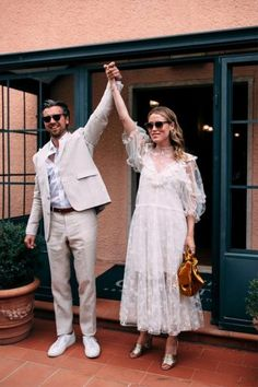 Norwegian Influencer Annabel Rosendahl Recreated a Slim Aarons Photo at Her Wedding in Tuscany is part of Wedding - At a dreamy olive farm in Southern Tuscany, the couple put together a wild weekend evoking rustic Italian style with a tropical overlay Slim Aarons, Casual Wedding, Boho Wedding Dress, Wedding Gowns, Casual Bride, Sophisticated Wedding, Boho Dress, Civil Wedding, Courthouse Wedding