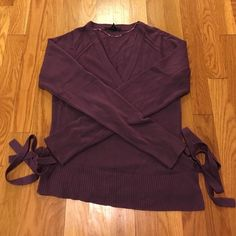 Purple wrap sweater Purple wrap sweater from H&M. Lovingly worn, but in excellent used condition. H&M Sweaters