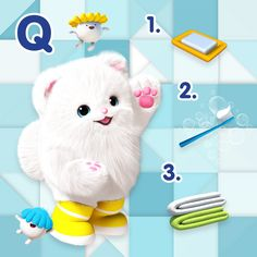 World Oral Health Day_Tomorrow is #worldoralhealthday and Bada has a small quiz for you! Which one do you need to have a healthy smile?😃✨👀 . . #worldoralhealthday#healtysmile #badanamu #soap #towels #bathroom #toothbrush #toothpaste #healthylifestyle #education #animation #digital #ecco #preschool #healthyhabits#forkids