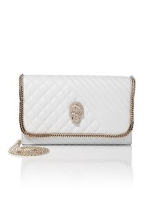 "PHILIPP PLEIN CLUTCH ""BELLE"". #philippplein #bags #stone #leather #clutch #polyester #lining #hand bags #"