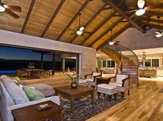 LHM Hawaii - Breathtaking Panoramic Ocean Views  • 45 Acres  • 5 bed/5.5 baths  • 5,863 sf living space  • 3,090 sf decks and lanai  • Detached barn with offices/workshop 3,648 sf  • 80' pool/spa with underwater sound system  • MLS 351342