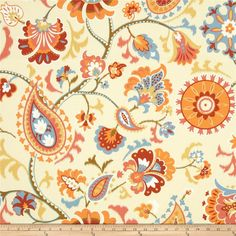 Waverly Sun N Shade Siren Song Tiger Lily from Waverly's Sun N Shade fabrics meet the rugged demands of casual indoor and outdoor living. This indoor/outdoor fabric is fade resistant up to 500 hours of direct sun exposure. Floral Shower Curtains, Custom Shower Curtains, Outdoor Fabric, Indoor Outdoor, Outdoor Living, Fabric Decor, Fabric Design, Wall Fabric, Daybed Covers