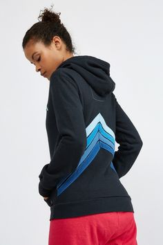Aviator Nation MOUNTAIN STRIPE SPLIT SWEATSHIRT | Bandier