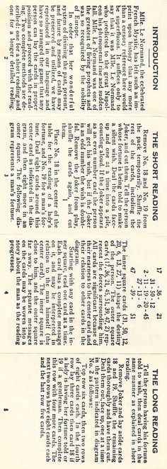 Gypsy Witch Fortune Telling Instructions