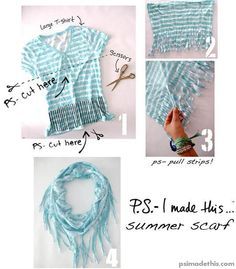 Another t shirt scarf to make! udelej si to