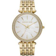 Women's Mid-Size Golden Stainless Steel Darci Three-Hand Glitz Watch -... found on Polyvore