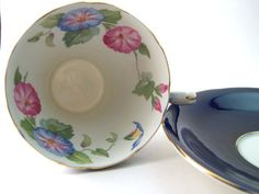 Antique Aynsley Cobalt Blue tea cup and by AntiqueAndCrafts