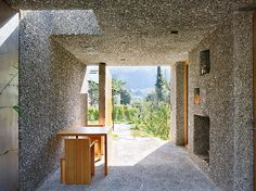 Concrete house in Switzerland looks like a block of Swiss cheese - Curbed
