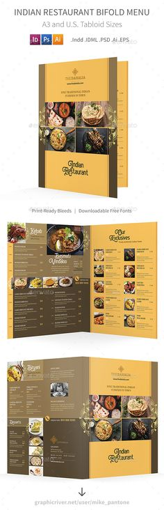 26 Best Indian Restaurant Menu Templates Images Menu Templates