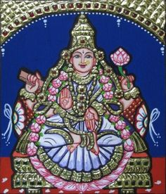 "Vidhya Lakshmi - 7x6"" each - sumarts.biz/"