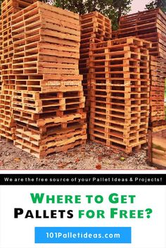 Where to Get, Find Pallets For Free?