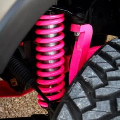 Pink shocks.. I love this! But they need to e purple to be on my vehicle :)