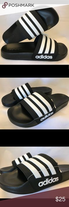 337b565d0 Adidas Adilette Shower Slides Slippers Men s Black New with Tag Adidas  Adilette Shower Slides Men s size