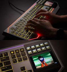 Star Wars Keyboard with LCD Touchpad - fancy tech - Geek Gadgets, Gadgets And Gizmos, Cool Gadgets, New Technology Gadgets, Futuristic Technology, Cool Technology, Technology Gifts, Star Wars, Nanotechnology