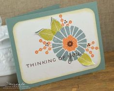 Thinking of You Card by Nichole Heady for Papertrey Ink (December 2012)