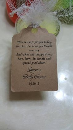 Personalized Favor Tags Thank You tags Favor tags Gift tags Bridal Shower Favor Tags candle tea light baby shower poem Baby Shower Poems, Baby Poems, Baby Shower Tags, Baby Shower Fun, Baby Shower Gifts, Diaper Shower, Girl Shower, Shower Party, Baby Shower Candle Favors