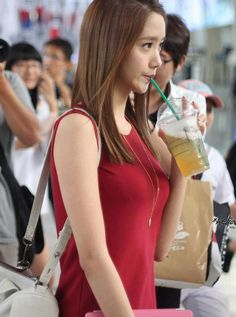 Yoona in red