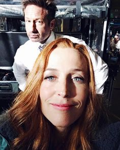 "Gillian Anderson (@gilliana) on Instagram: ""Well it's about time! @davidduchovny #TheXFiles"""