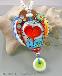 Michou Anderson Lampwork Glass Heart, $89.00.