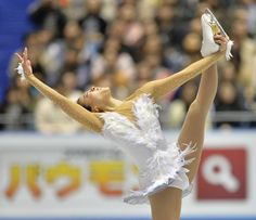 Japan's Mao Asada performs in the women's free skating at the World Team Trophy figure skating competition in Tokyo on April 13, 2013.