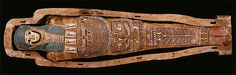 Egyptians created mummies by preserving humans and animals after their death with different chemicals. Andleeb/BC