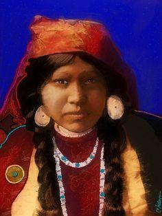 Navaho Girl. by Craig Nelson