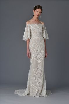 Marchesa Spring '17 bridal collection: http://www.stylemepretty.com/2016/04/16/marchesa-bridal-week-spring-2017/