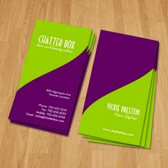 Fully customizable hair stylist business cards created by Colourful Designs Inc.
