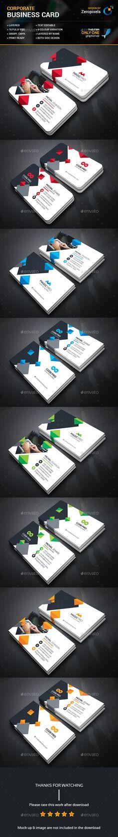 Business Card Templates PSD Bundle. Download here: https://graphicriver.net/item/business-card-bundle/17626105?ref=ksioks