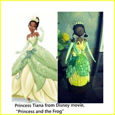Princess tiana made from paper