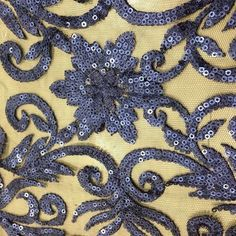 High quality 100%polyester mesh spangle sequin embroidery fabric for fashion dress