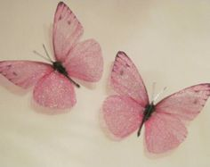 4 Shabby Chic Pink 3d Flying Butterfly by MyButterflyLove on Etsy
