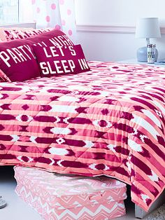 Quilty pleasure: the Reversible Comforter from Victoria's Secret PINK. PINK your pad with fun bedding and dorm accessories in super-cute prints and graphics.