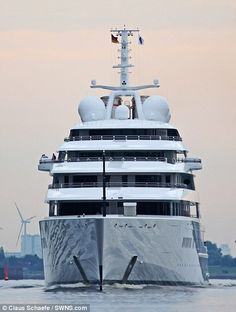 The worlds largest private yacht, Azzaml will be delivered to its owner, believed to be a Middle-Eastern billionaire, later in 2013