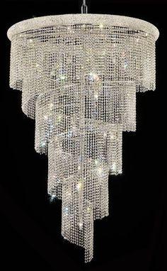 Image result for large crystal  pendant foyer lighting