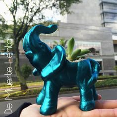 #DeMuerteLenta #Elephant #Ceramic Garden Sculpture, Dinosaur Stuffed Animal, Elephant, Ceramics, Outdoor Decor, Fictional Characters, Animals, Art, Ceramica