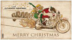 Bmw Motorrad Weihnachtsgrüße.Die 13 Besten Bilder Von Christmas Motorcycle Illustrations In 2018