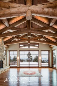 Who would you share this view with? Custom Home Builders, Custom Homes, Cabin Design, House Design, Country Builders, Mountain Homes, Mountain Style, Timber Beams, Colorado Homes