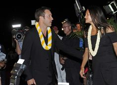 BRUCE ASATO / BASATO@STARADVERTISER.COM Alex O'Loughlin and his wife, Malia Jones on the Red Carpet of the Hawaii Five-0 season 7 kickoff at Sunset on the Beach at Queen's Surf Beach in Waikiki, Friday, September 23, 2016.