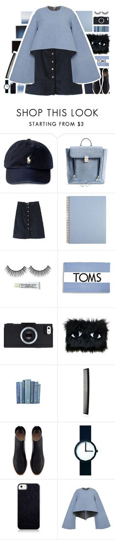 """""""Åêøß"""" by puhizaxox ❤ liked on Polyvore featuring Polo Ralph Lauren, 3.1 Phillip Lim, TOMS, Joanna Pybus, T3, Issey Miyake, Case-Mate, Topshop, Blue and couture"""