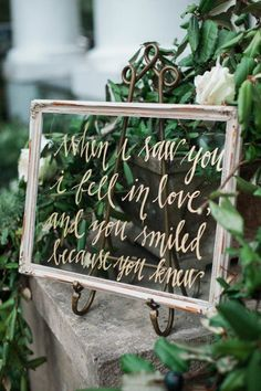 Delightfully southern nature-inspired wedding signage | Cotton and Clover Photography