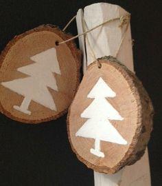 Hanger kerst hout adruk kerstboompje