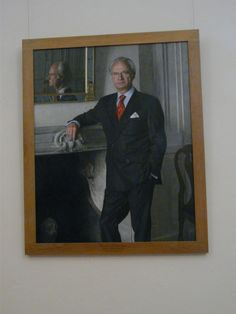 Portrait of King Carl XVI Gustaf hanging at Gripsholm slott