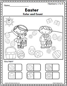 Easter Counting 1 to 5